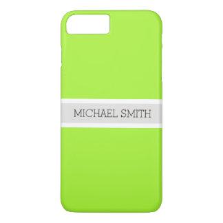 Coque iPhone 7 Plus Nom élégant de ruban moderne vert solide de