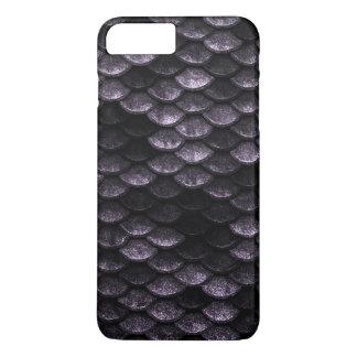 Coque iPhone 7 Plus Nuances de Deep Purple de motif d'échelles de