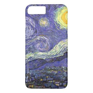 Coque iPhone 7 Plus Nuit étoilée de Van Gogh, paysage vintage de