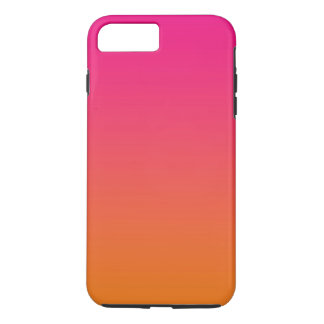 Coque iPhone 7 Plus Ombre rose et orange