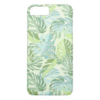 Coque iPhone 7 Plus Palmettes tropicales en pastel