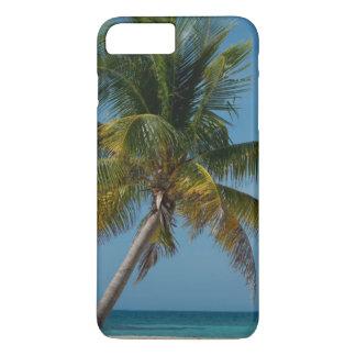 Coque iPhone 7 Plus Palmier et plage blanche 2 de sable