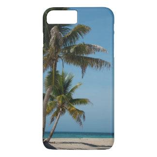 Coque iPhone 7 Plus Palmier et plage blanche de sable