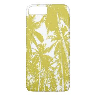 Coque iPhone 7 Plus Palmiers tropicaux dans Brown d'or