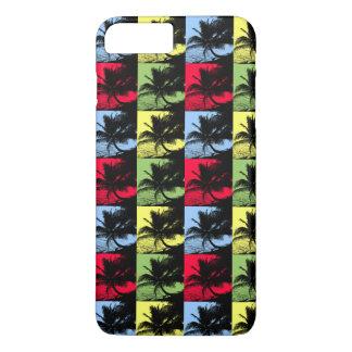 Coque iPhone 7 Plus Palmiers tropicaux dans le motif de Posterised