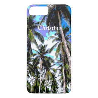 Coque iPhone 7 Plus Palmiers tropicaux personnalisés