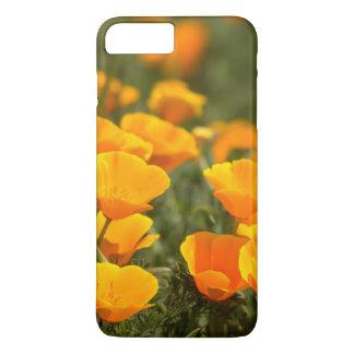 Coque iPhone 7 Plus Pavots de Californie, parc d'état du Montana de