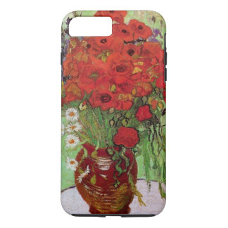 Coque iPhone 7 Plus Pavots de Van Gogh et marguerites rouges, fleurs