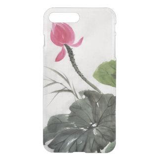 Coque iPhone 7 Plus Peinture d'aquarelle de la fleur de Lotus 2