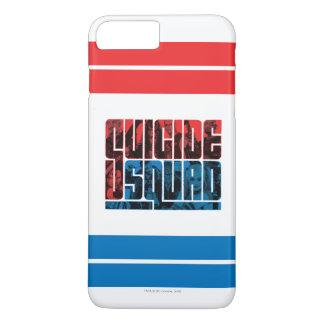 Coque iPhone 7 Plus Peloton de suicide logo rouge et bleu de |