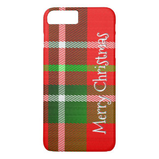 Coque iPhone 7 Plus Personnalisez le motif de plaid de tartan de