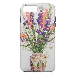 Coque iPhone 7 Plus Pied-d'alouette et Gladioli dans un vase marocain