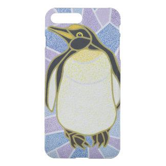 Coque iPhone 7 Plus Pingouin sur le verre souillé