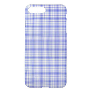 Coque iPhone 7 Plus Plaid blanc bleu 2