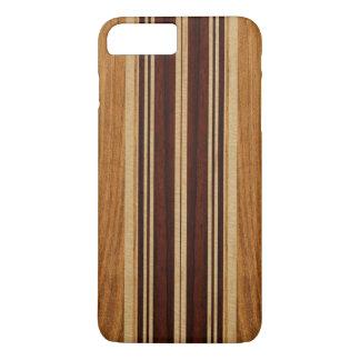 Coque iPhone 7 Plus Planche de surf en bois de Koa de Faux de Nalu Lua