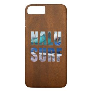 Coque iPhone 7 Plus Planche de surf hawaïenne en bois de Koa de Faux