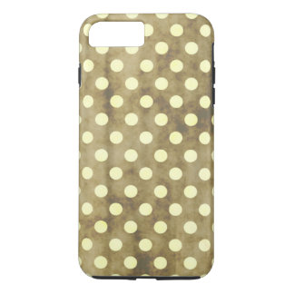Coque iPhone 7 Plus Pois blanc vintage