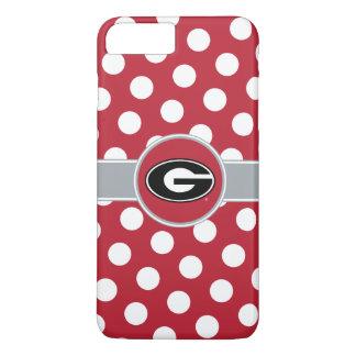 Coque iPhone 7 Plus Pois du logo   de bouledogues de la Géorgie