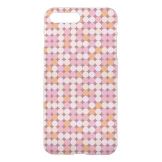 Coque iPhone 7 Plus Pois rose et orange