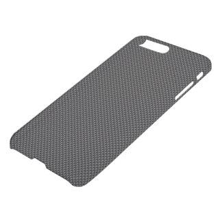 Coque iPhone 7 Plus Polymère de fibre de carbone de noir foncé et de