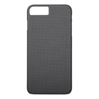 Coque iPhone 7 Plus Polymère noir et gris de fibre de carbone