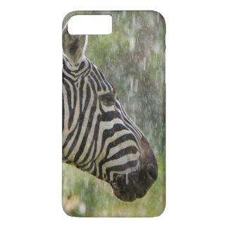 Coque iPhone 7 Plus Portrait de la position de zèbre de plaines
