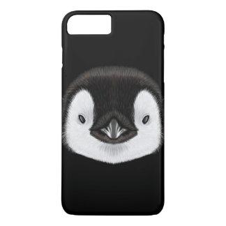 Coque iPhone 7 Plus Portrait illustré de poussin de pingouin