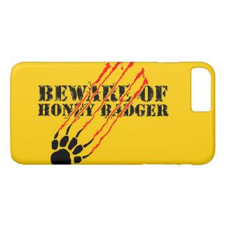 Coque iPhone 7 Plus Prenez garde du blaireau de miel