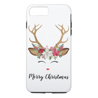 Coque iPhone 7 Plus Renne iPhone8/7 de Noël plus le cas