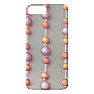 Coque iPhone 7 Plus Rétro arrière - plan de décoration d'arbre de Noël