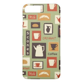 Coque iPhone 7 Plus Rétro motif avec des plats de cuisine pour le