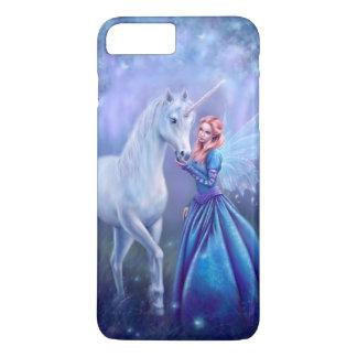 Coque iPhone 7 Plus Rhiannon - licorne et fée