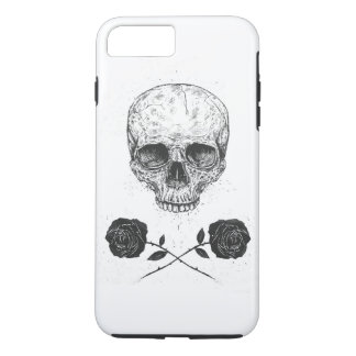 Coque iPhone 7 Plus Roses de N de crâne