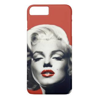 Coque iPhone 7 Plus Rouge sur les lèvres rouges Marilyn