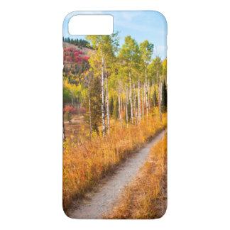Coque iPhone 7 Plus Route par des couleurs d'automne