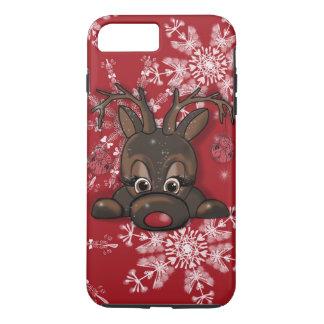 Coque iPhone 7 Plus Rudolph la caisse rouge de téléphone de flocon de