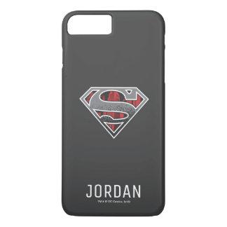 Coque iPhone 7 Plus S-Bouclier nom gris et rouge de   de Superman de