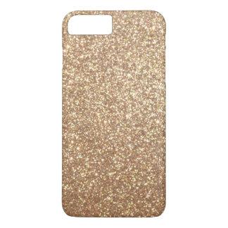 Coque iPhone 7 Plus Scintillement métallique d'or rose d'en cuivre