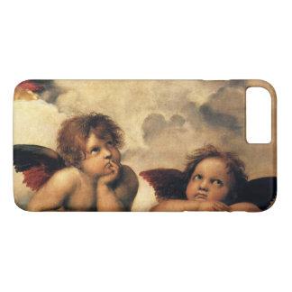 Coque iPhone 7 Plus Sistine Madonna, détail d'anges par Raphael