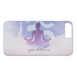 Coque iPhone 7 Plus Symbole élégant de l'OM de pose de méditation de