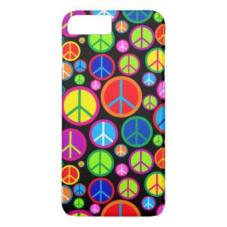 Coque iPhone 7 Plus Symboles de paix super colorés frais