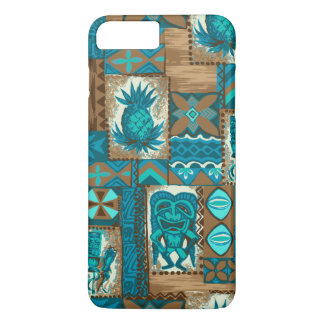 Coque iPhone 7 Plus Tapa vintage hawaïen de Pomaika'i Tiki
