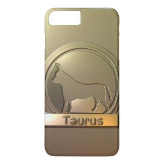 Coque iPhone 7 Plus Taureau de signe de Sun gravé