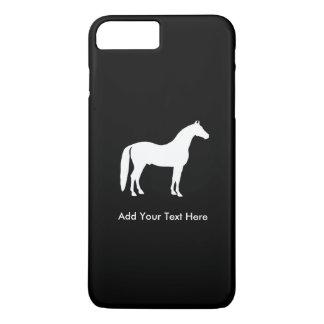 Coque iPhone 7 Plus Texte personnalisable élégant de cheval blanc