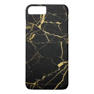 Coque iPhone 7 Plus Texture d'or de marbre de granit