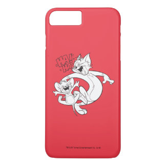 Coque iPhone 7 Plus Tom et Jerry | Tom et rire de Jerry