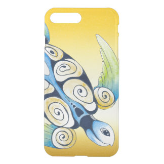 Coque iPhone 7 Plus Tortue de mer sur le jaune