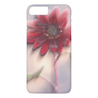 Coque iPhone 7 Plus Tournesol hybride soufflant dans le vent