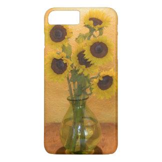 Coque iPhone 7 Plus Tournesols dans le vase sur le tableau 2