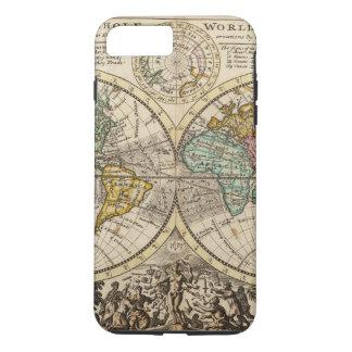 Coque iPhone 7 Plus Une nouvelle carte du monde entier avec les vents